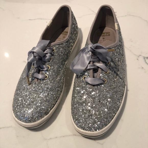 a8e7a074c8114 Keds Shoes - Keds x Kate Spade Champion Silver Glitter Sneakers
